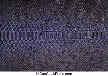 Python leather - Subsequently painted natural python skin...