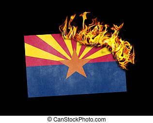 Flag burning - Arizona - Flag burning - concept of war or...