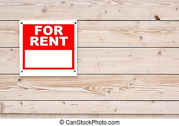FOR RENT Red White Sign