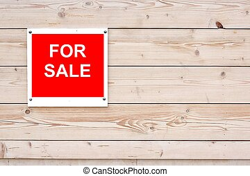 For Sale Red White Sign