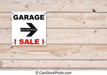 White Garage Sale Sign