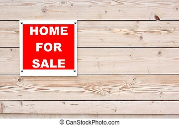 HOME FOR SALE Red White Sign