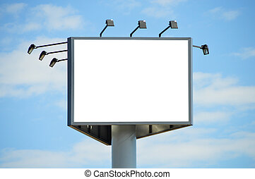 Advertising Billboard - Outdoor advertising billboard on...