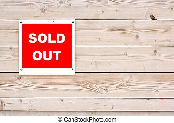 SOLD OUT Sign