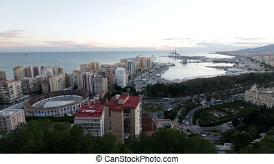 Malaga with Port - Malaga with Port and Placa de Torros from...