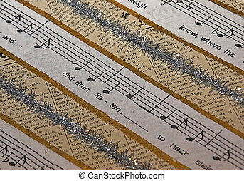 Christmas Music Theme Paper - This Christmas themed paper is...
