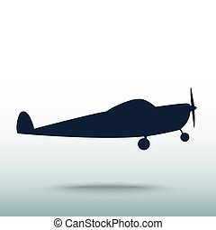 Airplane icon, vector illustration Flat design style
