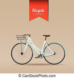 Retro Illustration Vector Bicycle