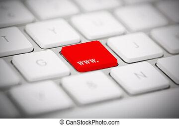 """The word """"WWW"""" written on keyboard - The word """"WWW"""" written..."""