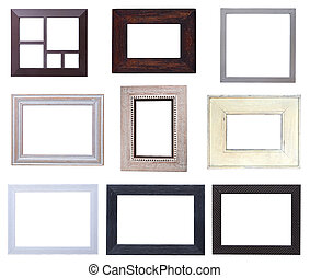 Wooden picture frames pack