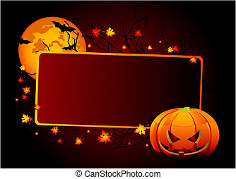 Halloween place card - Halloween place card or invite....