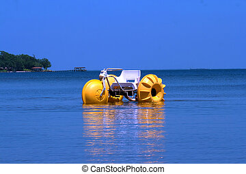 Water Trike - A water trike on the calm ocean