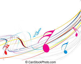 Music theme - Musical wavelike of musical notes