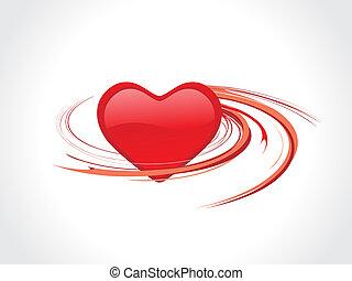 spirals heart - spirals valentine heart ornament