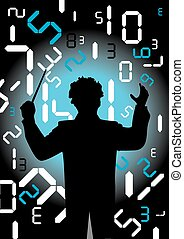 Conductor with digital numbers - Orchestra conductor...
