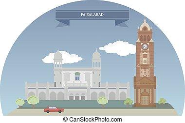 Faisalabad, Pakistan - Faisalabad third largest metropolis...