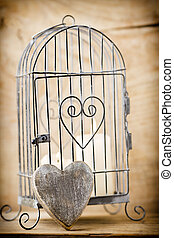Cage. - Candlestick cage style, candles, Valentine's Day...