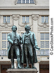 The Goethe–Schiller Monument in Weimar Germany