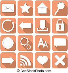A set of icons for Internet.