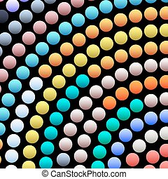 Vector background of abstract round mosaic