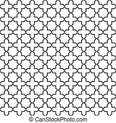Seamless delicate pattern in islamic style