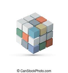 Cube. Vector EPS10