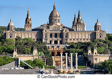 National Art Museum of Catalonia at Montjuic in Barcelona,...