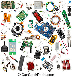 Electronic components - Collection of electronic components...
