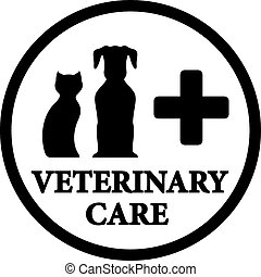 black veterinary medicine icon