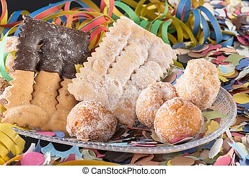 crostoli and damselfish carnival - sweet typical of the...