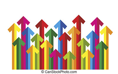 arrows - many colored arrows arranged as abstract background