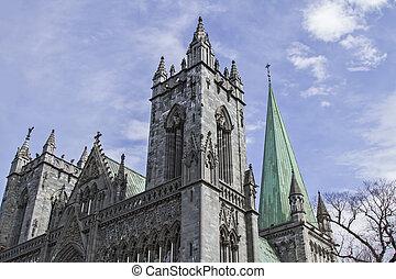 Nidaros Cathedral in Trondheim - The Nidaros Cathedral in...