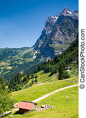 Grindelwald in the Canton of Bern in Switzerland - This is a...