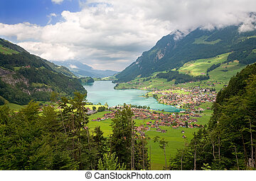 Canton of Fribourg, Switzerland - Beautiful landscape in the...