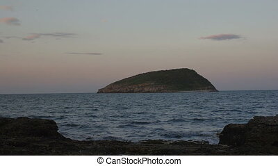 Night falling on Puffin Island, Anglesey, North Wales