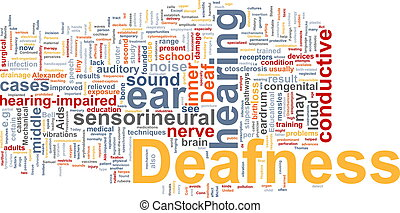 Deafness word cloud - Word cloud concept illustration of...