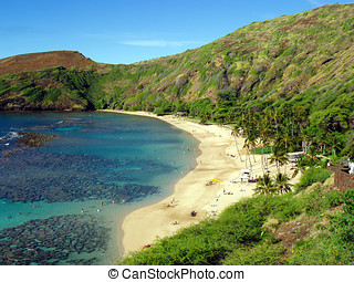 Hanauma Bay, Oahu, Hawaii - Early summer morning at the...