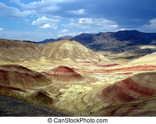 Oregon Painted Desert - Painted Desert seen from the...