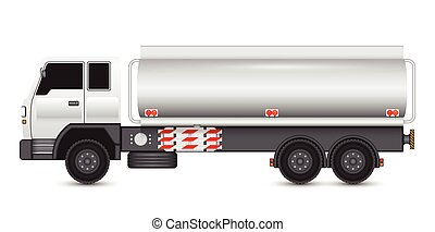 Truck tank - Illustration of heavy truck and chemical tank.