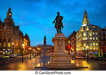Porto Liberdade square - Liberty or Freedom Square with...