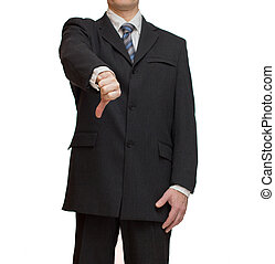 Businessman - Concept of businessman showing thumbs down