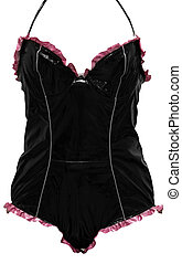 Sexy corset - Sexy pink corset isolated on a white...