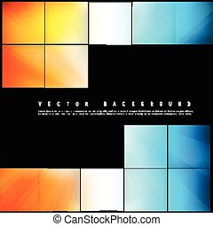 Vector Abstract geometric shape from color cubes. squares