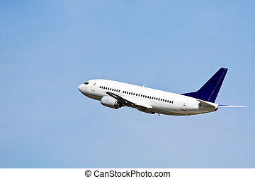 Airliner - Commercial liner in the blue sky