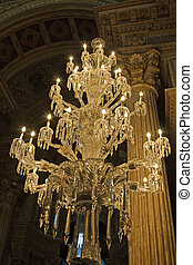 Luxury chandelier in the DOLMABAHCE palace, Istabul, Turkey