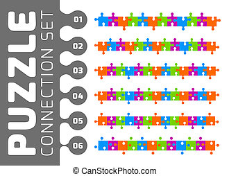 Puzzle connection set