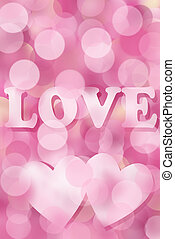 pink valentine background with bokeh effect