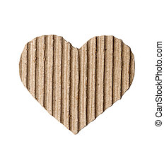 heart made of cardboard