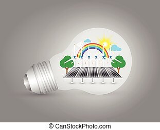 Alternative energy - Illustration of alternative energy in...