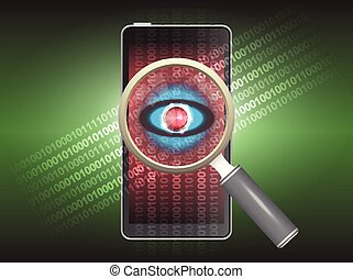 Virus - Magnifier and virus data in phone